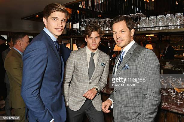 Toby HuntingtonWhiteley Oliver Cheshire and Paul Sculfor attend a dinner hosted by Tommy Hilfiger and Dylan Jones to celebrate London Collections Men...