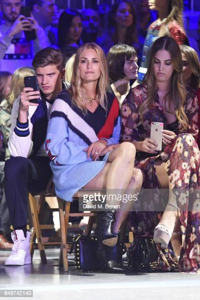 Toby HuntingtonWhiteley Yasmin Le Bon and Amber Le Bon attend the Tommy Hilfiger TOMMYNOW Fall 2017 Show during London Fashion Week September 2017 at...