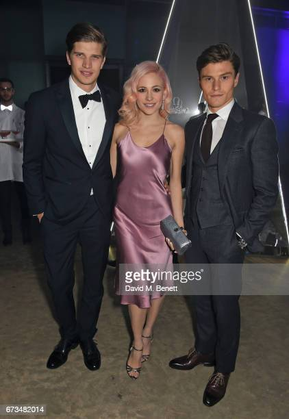 Toby HuntingtonWhitely Pixie Lott and Oliver Cheshire attend the OMEGA 'Lost In Space' dinner to celebrate the 60th anniversary of the OMEGA...