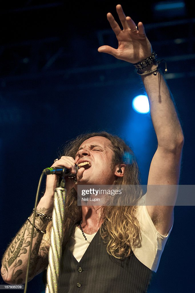 Toby Jepson of Little Angels performs at Wulfrun Hall on December 7, 2012 in Wolverhampton, England.