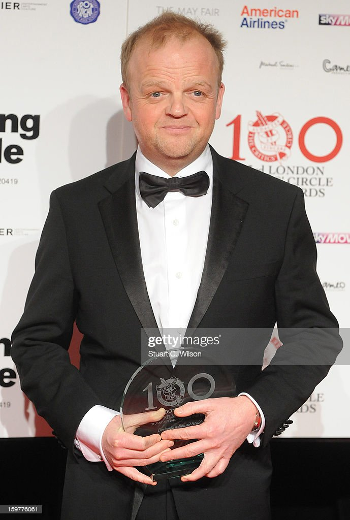 Toby Jones poses in the press room at the London Critics' Circle Film Awards at The Mayfair Hotel on January 20, 2013 in London, England.