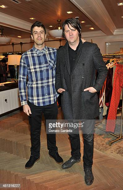 Toby Kebbell and Orian Williams attend Tommy Hilfiger And PS ARTS celebrate the Cameron Silver Vintage Capsule Collection on November 21 2013 in West...