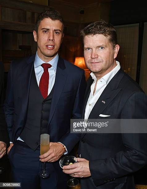 Toby Kebbell and US Ambassador Matthew Barzun attend Harvey Weinstein's preBAFTA dinner in partnership with Burberry and GREY GOOSE at Little House...