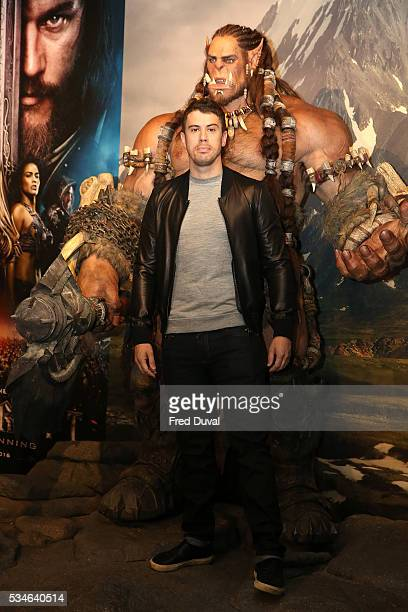 Toby Kebbell attends the launch of the Warcraft Experience at Madame Tussauds on May 27 2016 in London England
