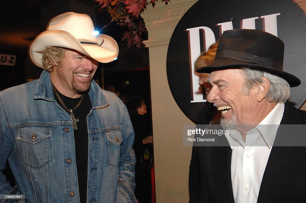 Toby Keith and Merle Haggard during 54th Annual BMI Country Awards - Arrivals at BMI Offices in Nashville, Tennessee, United States.