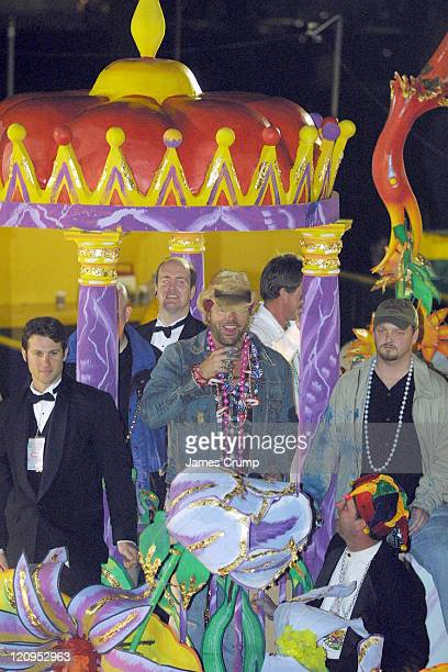 Toby Keith on a float during the Orpheus parade during Mardi Gras New Orleans 2005 at Orpheus Parade Gallier Hall St Charles Avenue in New Orleans LA...