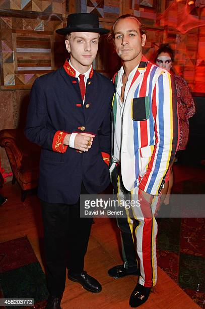 Toby Knott attends 'Death Of A Geisha' hosted by Fran Cutler and Cafe KaiZen with Grey Goose on October 31 2014 in London England