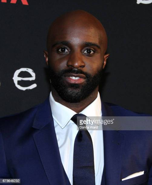 Toby Onwumere attends the 'Sense8' New York Premiere at AMC Lincoln Square Theater on April 26 2017 in New York City