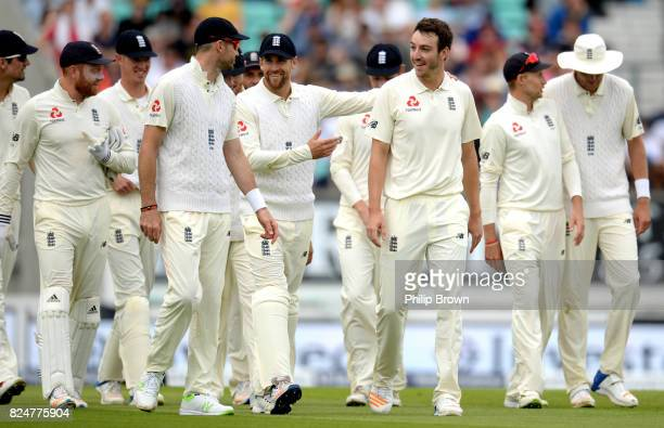 Toby RolandJones of England after dismissing Vernon Philander of South Africa lbw during the fifth day of the 3rd Investec Test match between England...