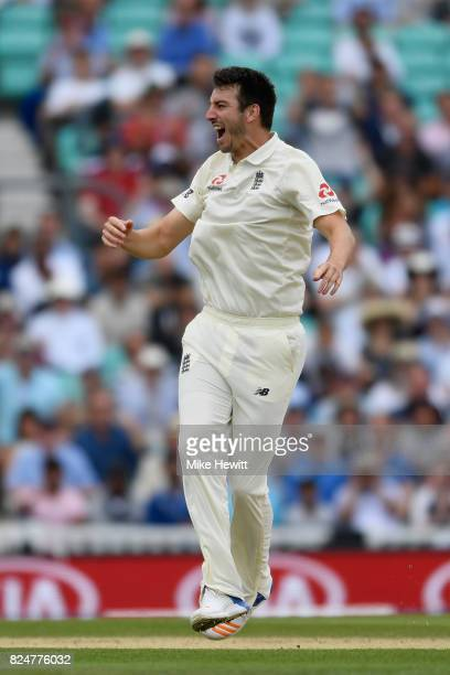 Toby RolandJones of England celebrates the wicket of Vernon Philander of South Africa during the 3rd Investec Test between England and South Africa...