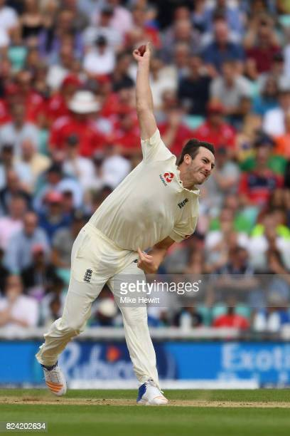 Toby RolandJones of England in action during Day Three of the 3rd Investec Test match between England and South Africa at The Kia Oval on July 29...