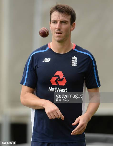 Toby RolandJones of England looks on during a training session before the 4th Investec Test match between England and South Africa at Old Trafford...