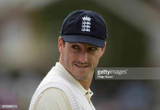 Toby RolandJones of England looks on during the second day of the 3rd Investec Test match between England and South Africa at the Kia Oval on July 28...