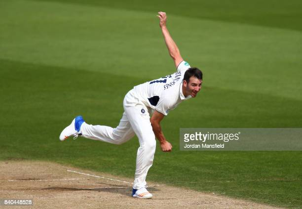 Toby RolandJones of Middlesex bowls during day two of the Specsavers County Championship Division One match between Surrey and Middlesex at The Kia...