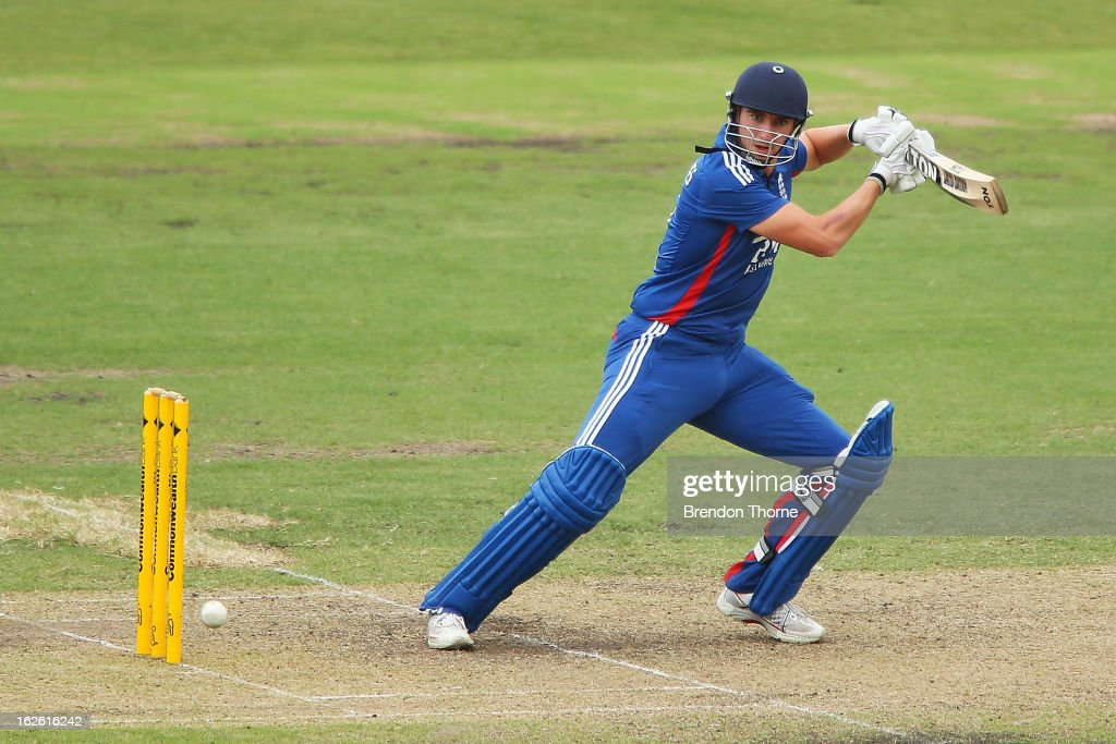 Toby Roland-Jones of the Lions bats during the International Tour match between Australia 'A' and the England Lions at Sydney Cricket Ground on February 25, 2013 in Sydney, Australia.