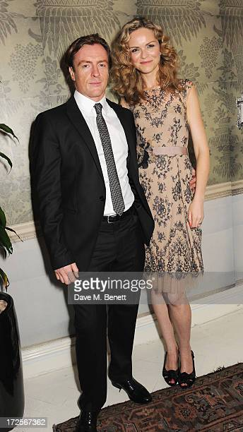 Toby Stephens and Anna Louise Plowman attend 'Private Lives' Press Night at Kettners on July 3 2013 in London England