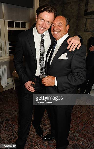 Toby Stephens and Arnold M Crook attend 'Private Lives' Press Night at Kettners on July 3 2013 in London England