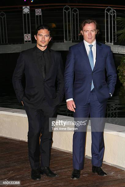 Toby Stephens and Luke Arnold attend 'Black Sails STARZ' Party at the Monte Carlo Bay Hotel on June 10 2014 in MonteCarlo Monaco
