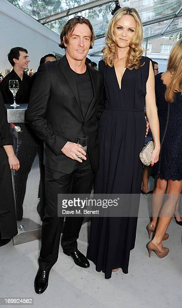 Toby Stephens and wife AnnaLouise Plowman arrive at the Glamour Women of the Year Awards in association with Pandora at Berkeley Square Gardens on...