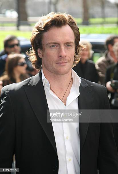 Toby Stephens during TRIC Awards 2007 Outside Arrivals at Great Room Grosvenor House in London Great Britain