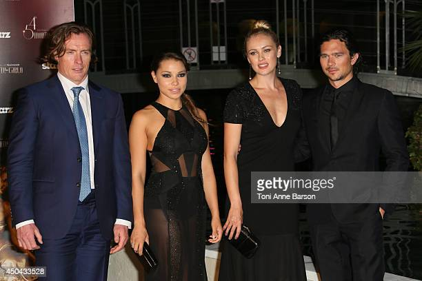 Toby Stephens Jessica Parker Kennedy Hannah New and Luke Arnold attend 'Black Sails STARZ' Party at the Monte Carlo Bay Hotel on June 10 2014 in...