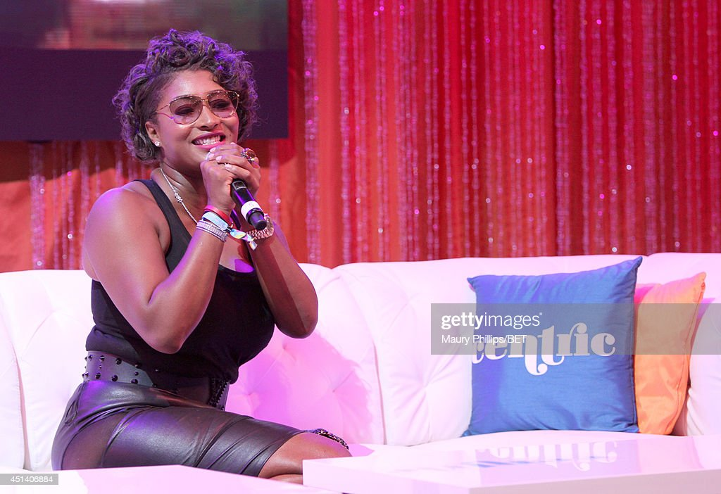 <a gi-track='captionPersonalityLinkClicked' href=/galleries/search?phrase=Toccara+Jones&family=editorial&specificpeople=2253497 ng-click='$event.stopPropagation()'>Toccara Jones</a> speaks at Fan Fest BET and Centric Pavilion - Day 1 during the 2014 BET Experience At L.A. LIVE on June 28, 2014 in Los Angeles, California.