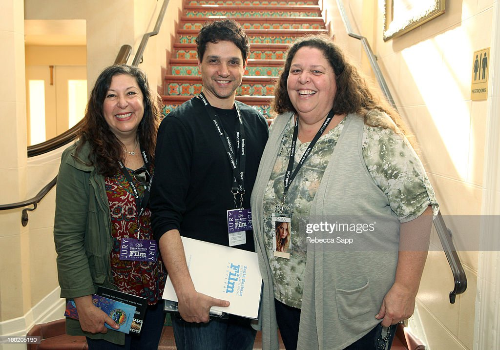 Today film critic Claudia Puig, actor Ralph Macchio and SBIFF publicist Carol Marshall at the 28th Santa Barbara International Film Festival on January 27, 2013 in Santa Barbara, California.