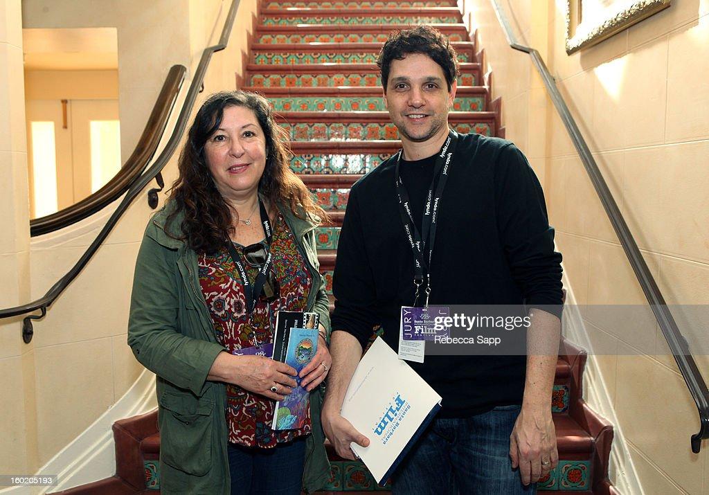 Today film critic Claudia Puig and actor Ralph Macchio at the 28th Santa Barbara International Film Festival on January 27, 2013 in Santa Barbara, California.