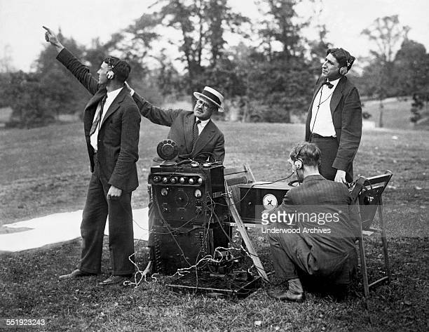 Today inventors tested out an airplane communications system that as it circled over Central Park it successfully broadcasted to the radio relay...