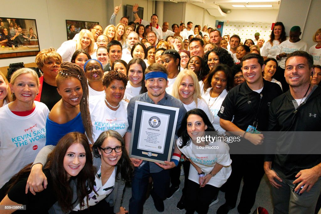 Today, live on 'The View,' Jason Ritter ('Kevin (Probably) Saves the World,' successfully breaks the Guinness World Record for an individual giving the most hugs in one minute. 'The View' airs Monday-Friday (11:00 am-12:00 pm, ET) on the ABC Television Network. JASON