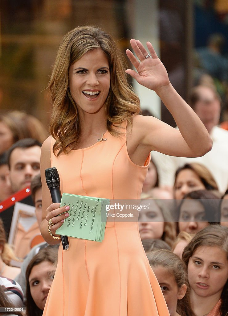 'Today' News Anchor Natalie Morales speaks to the crowd on NBC's 'Today' at the NBC's TODAY Show on July 12, 2013 in New York, New York.