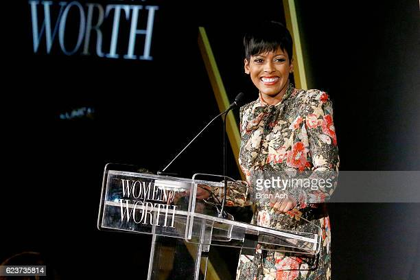 Today Show Anchor Tamron Hall speaks at the L'Oreal Paris Women of Worth Celebration 2016 Arrivals on November 16 2016 in New York City