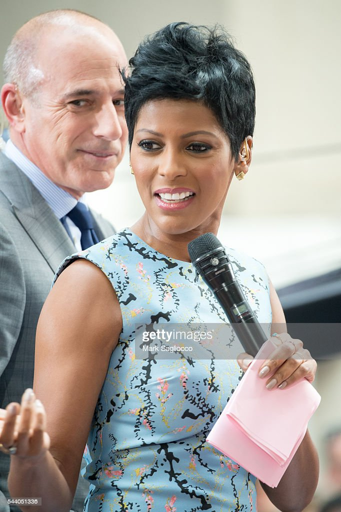 NBC 'Today' Show Co-Host <a gi-track='captionPersonalityLinkClicked' href=/galleries/search?phrase=Tamron+Hall&family=editorial&specificpeople=5933064 ng-click='$event.stopPropagation()'>Tamron Hall</a> attends the Rachel Platten performance on NBC's 'Today' show at Rockefeller Plaza on July 1, 2016 in New York City.