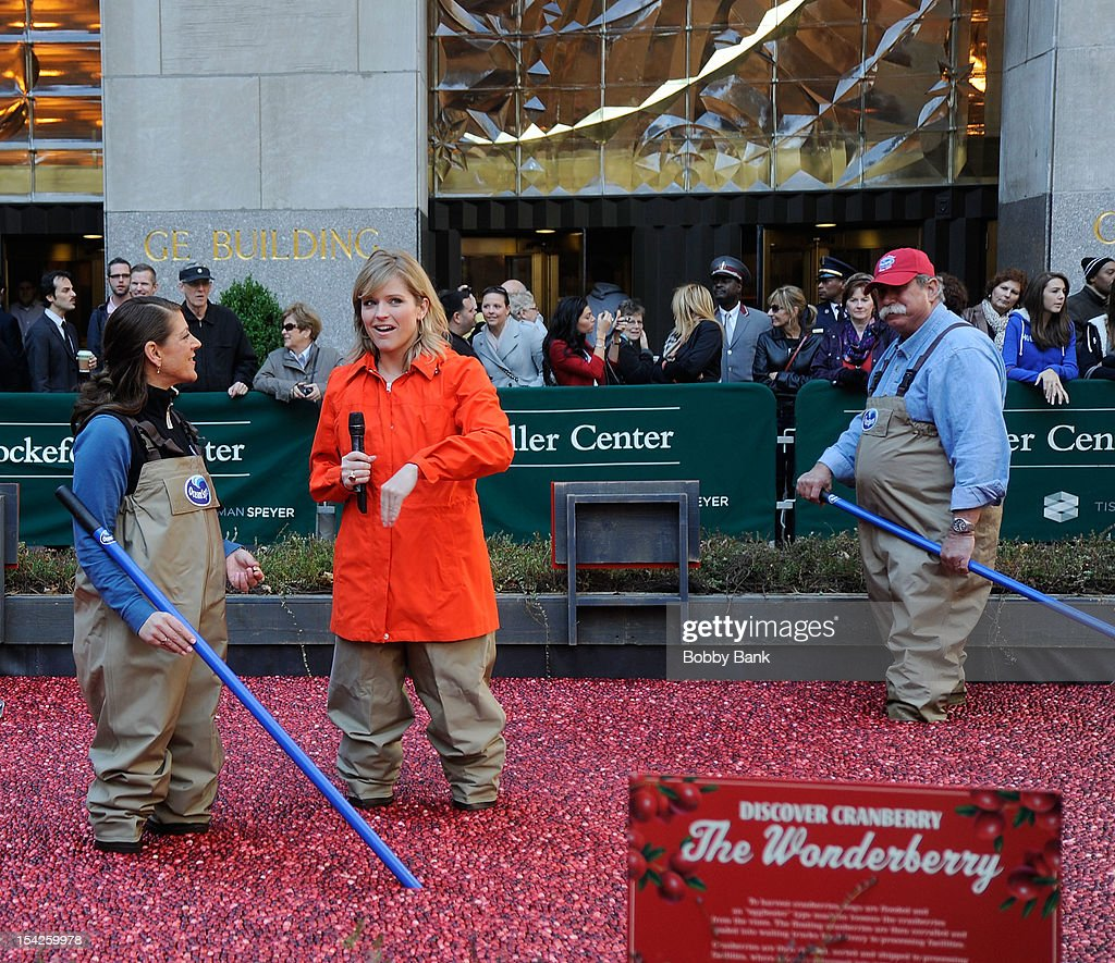 Today Show correspondent, Sarah Haines ouside Rockefeller Center at Streets of Manhattan on October 16, 2012 in New York City.