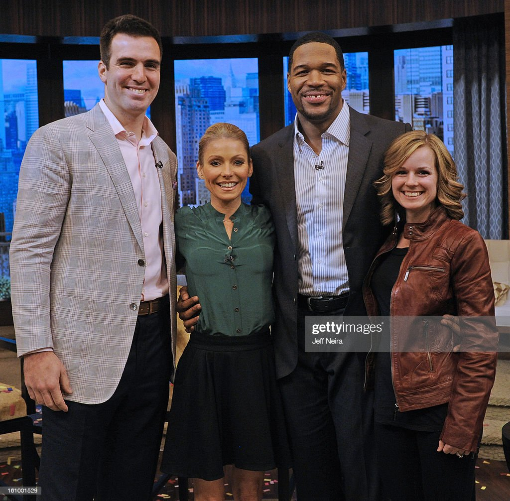 MICHAEL - 2/8/13 - Today the hosts welcomed Joe Flacco, from the Super Bowl Champion Baltimore Ravens, on LIVE! with Kelly and Michael,' distributed by Disney-ABC Domestic Television. JOE