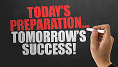 Today's Preparation... Tomorrow's Success! sign