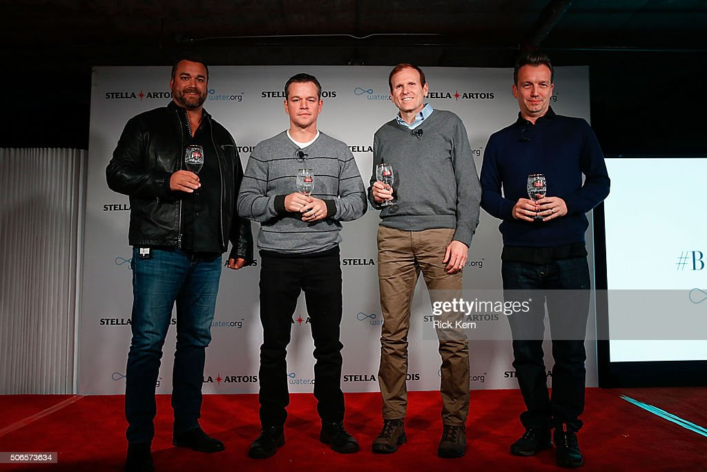 Todd Allen Global Vice President Stella Artois Waterorg CoFounders Matt Damon and Gary White and Sean Bailey Sundance Institute Board member...