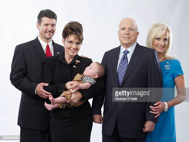 Todd and Sarah Palin and son Trig with John and Cindy McCain