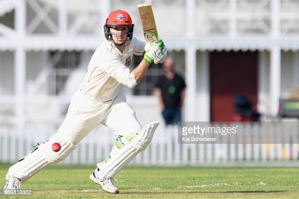 Todd Astle of Canterbury batting during the Plunket Shield match between Canterbury and Wellington on March 29 2017 in Christchurch New Zealand
