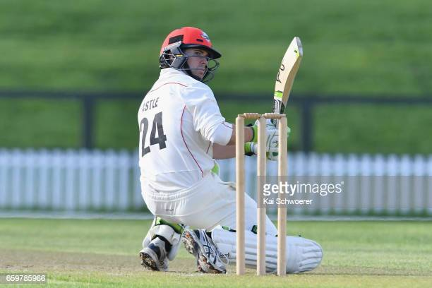 Todd Astle of Canterbury reacting during the Plunket Shield match between Canterbury and Wellington on March 29 2017 in Christchurch New Zealand