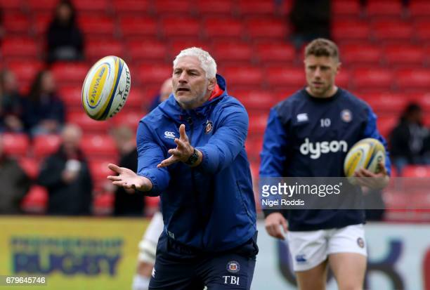 Todd Blackadder Director of Rugby of Bath Rugby during the Aviva Premiership match between Sale Sharks and Bath Rugby at AJ Bell Stadium on May 6...