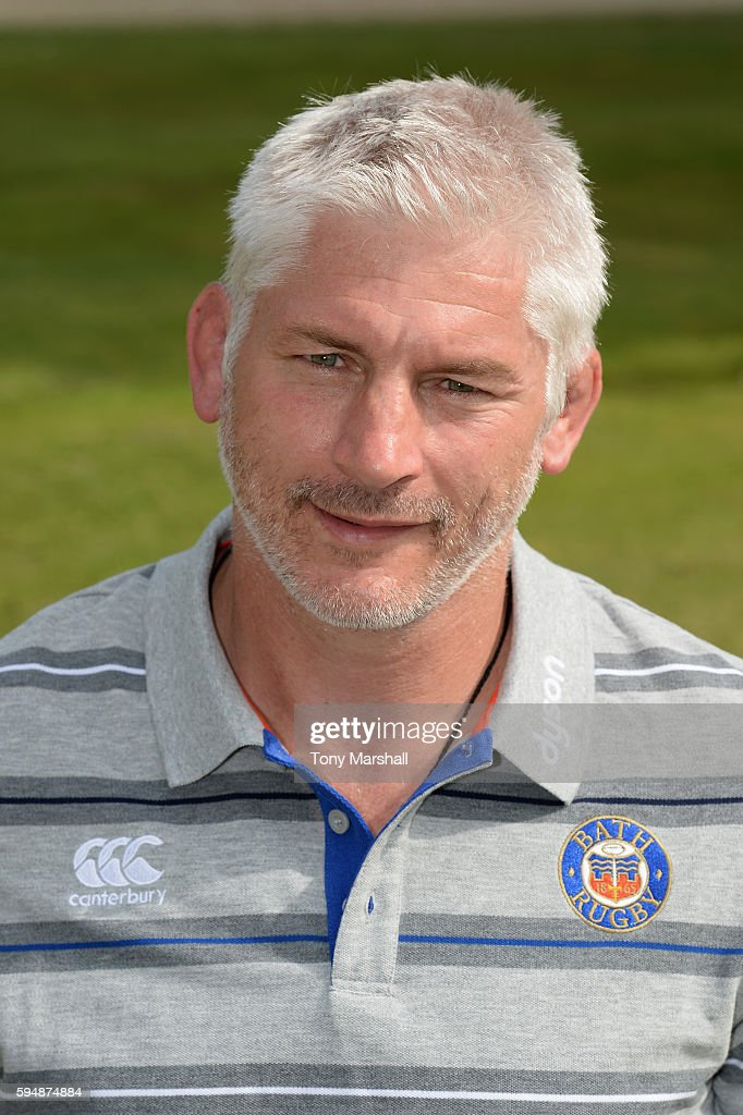 Todd Blackadder Director of Rugby poses for a portrait during the Bath Rugby squad photo call for the 20162017 Aviva Premiership Rugby season on...