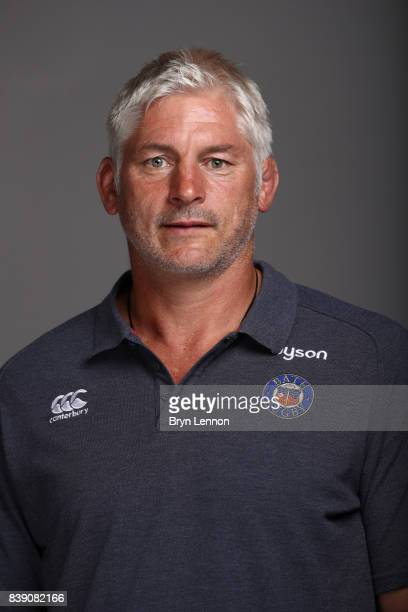 Todd Blackadder of Bath poses during a photocall on August 22 2017 in Bath England