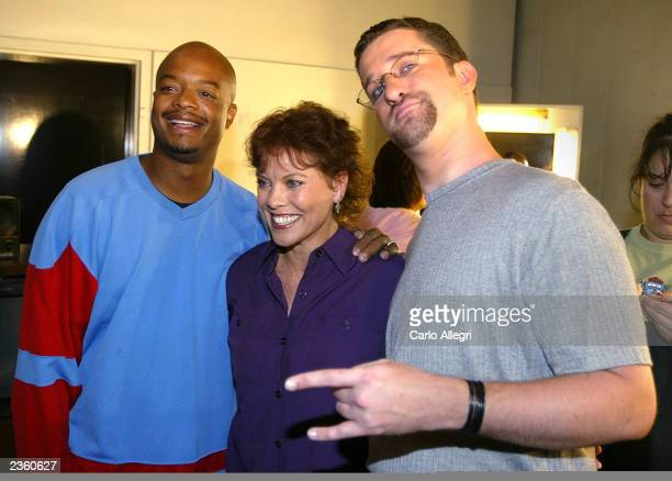 Todd Bridges Erin Moran and Dustin Diamond pose for pictures before a taping of Former Child Star Week on Hollywood Squares at CBS Studios August 3...