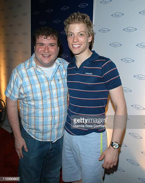 Todd Buonopane and Barrett Foa during Opening of Marc Packer's Bolzano's at Bolzano's in New York City New York United States