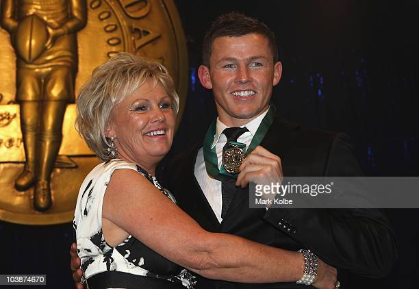 Todd Carney and his mother Leanne Carney pose with the Dally M medal at the 2010 Dally M Awards at the State Theatre on September 7 2010 in Sydney...