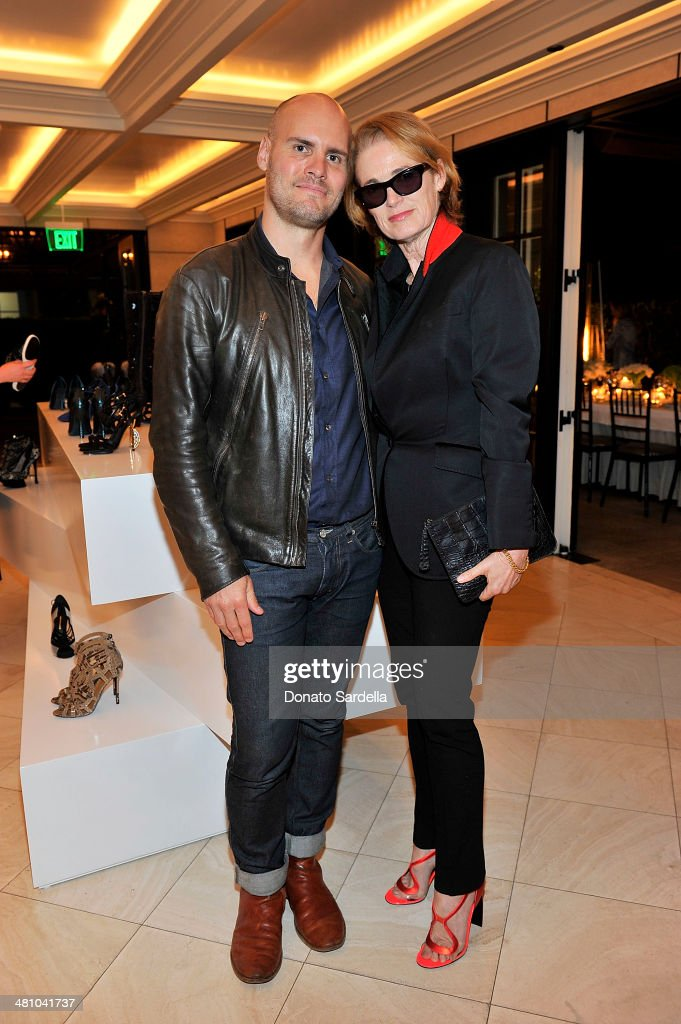 Todd Cote and senior west coast editor of Vogue Lisa Love and attend Nicholas Kirkwood dinner hosted by Emma Roberts and Jake Shears at Hotel Bel-Air on March 27, 2014 in Los Angeles, California.