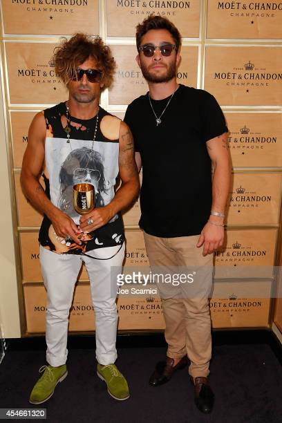 Todd DiCiurcio and Ed Westwick attend the The Moet Chandon Suite at the 2014 US Open at USTA Billie Jean King National Tennis Center on September 4...