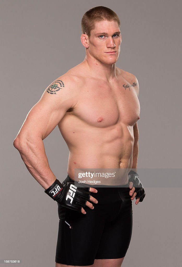 Todd Duffee poses for a portrait ahead of his UFC 155 bout on December 26, 2012 at the MGM Grand in Las Vegas, Nevada.