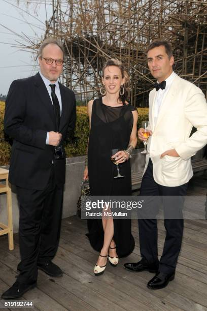 Todd Eberle Hope Atherton and Euan Rellie attend HAUT BRION 75th Anniversary at The Metropolitan Museum of Art on July 12 2010 in New York City